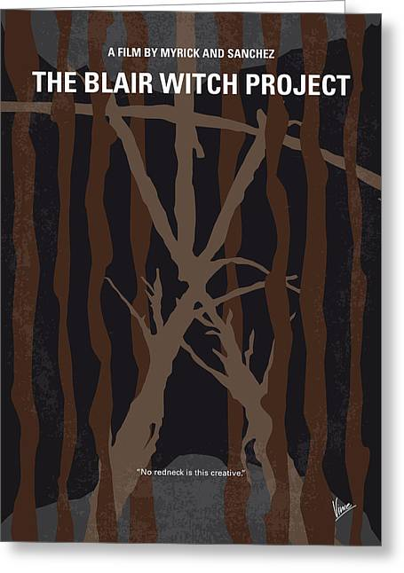 No476 My The Blair Witch Project Minimal Movie Poster Greeting Card