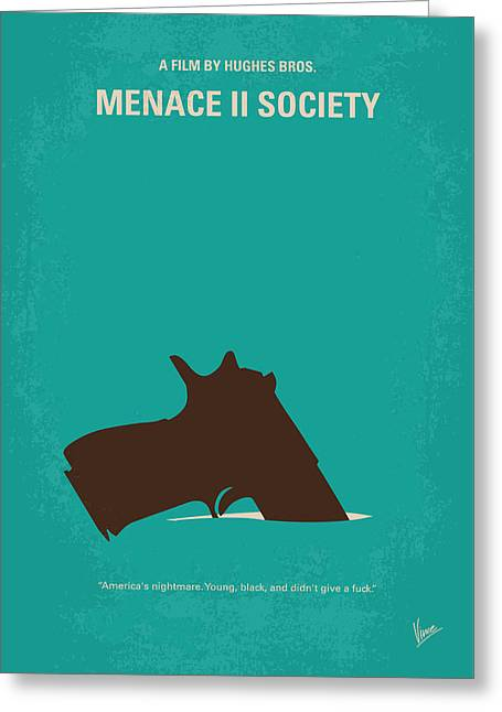 No484 My Menace II Society Minimal Movie Poster Greeting Card