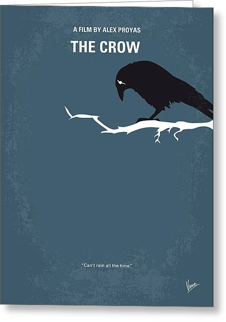 No488 My The Crow Minimal Movie Poster Greeting Card by Chungkong Art