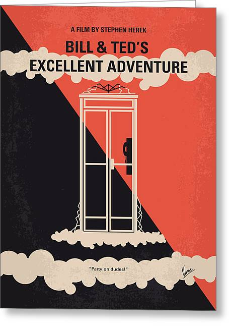 No490 My Bill And Teds Excellent Adventure Minimal Movie Poster Greeting Card