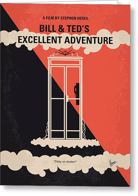 No490 My Bill And Teds Excellent Adventure Minimal Movie Poster Greeting Card by Chungkong Art
