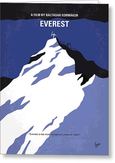 No492 My Everest Minimal Movie Poster Greeting Card by Chungkong Art