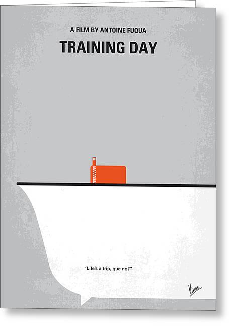 No497 My Training Day Minimal Movie Poster Greeting Card by Chungkong Art