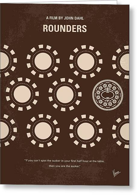 No503 My Rounders Minimal Movie Poster Greeting Card by Chungkong Art