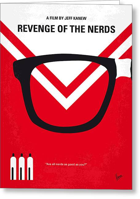 No504 My Revenge Of The Nerds Minimal Movie Poster Greeting Card