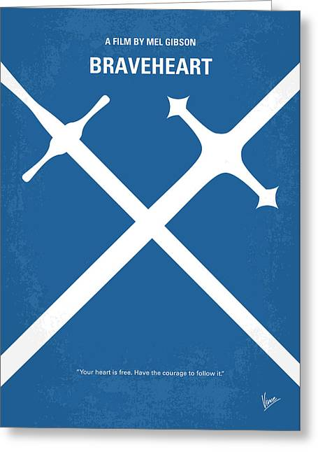 No507 My Braveheart Minimal Movie Poster Greeting Card by Chungkong Art