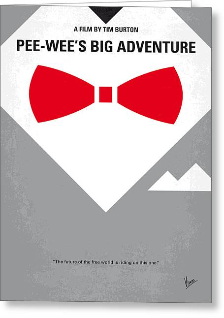 No511 My Pee Wees Big Adventure Minimal Movie Poster Greeting Card by Chungkong Art