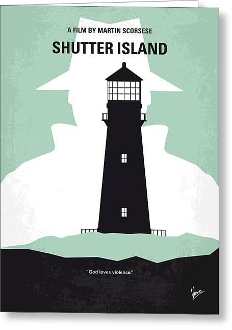 No513 My Shutter Island Minimal Movie Poster Greeting Card by Chungkong Art