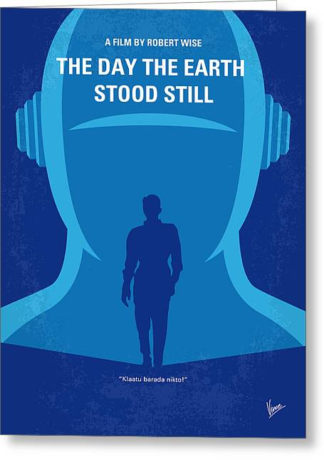 No514 My The Day The Earth Stood Still Minimal Movie Poster Greeting Card by Chungkong Art