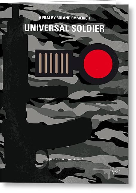 No523 My Universal Soldier Minimal Movie Poster Greeting Card by Chungkong Art