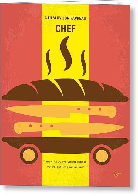 No524 My Chef Minimal Movie Poster Greeting Card