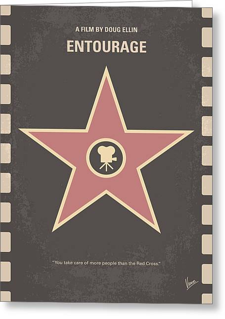 No525 My Entourage Minimal Movie Poster Greeting Card