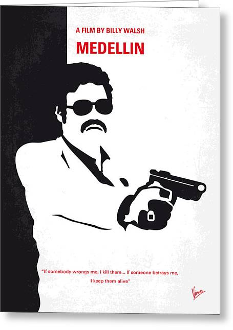 No526 My Medellin Minimal Movie Poster Greeting Card