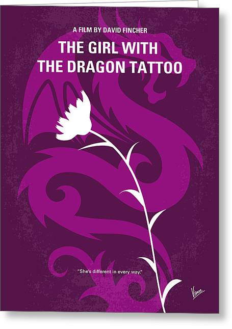 No528 My The Girl With The Dragon Tattoo Minimal Movie Poster Greeting Card