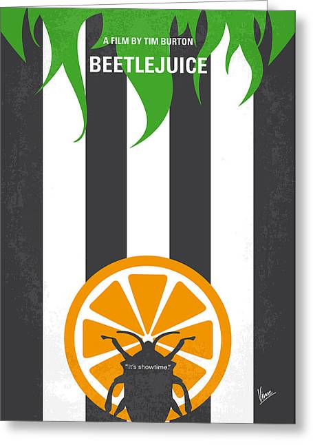 No531 My Beetlejuice Minimal Movie Poster Greeting Card by Chungkong Art