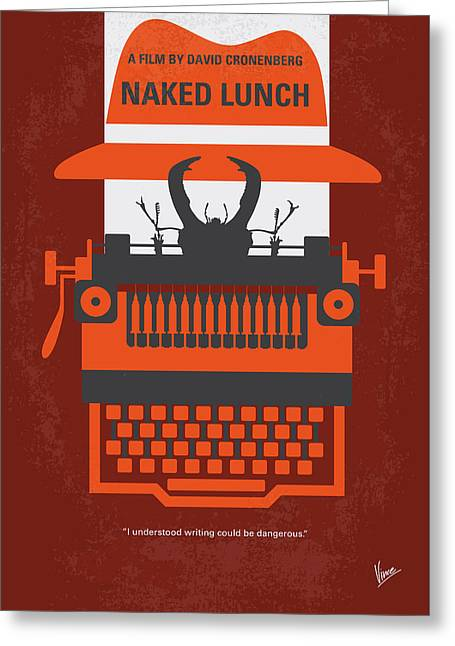 No534 My Naked Lunch Minimal Movie Poster Greeting Card