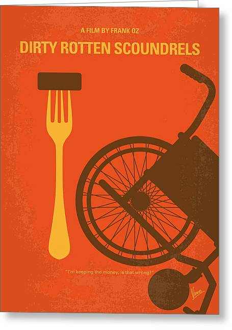 No536 My Dirty Rotten Scoundrels Minimal Movie Poster Greeting Card by Chungkong Art