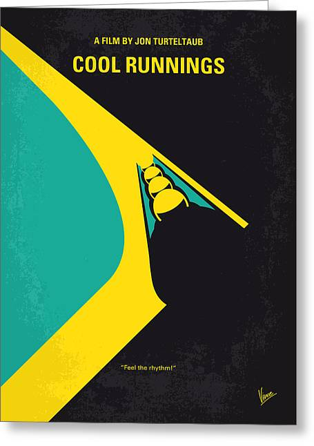 No538 My Cool Runnings Minimal Movie Poster Greeting Card
