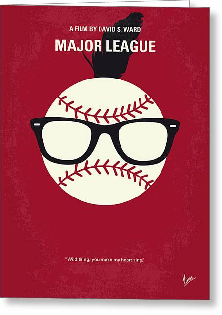 No541 My Major League Minimal Movie Poster Greeting Card