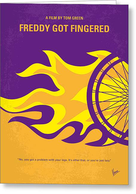 No550 My Freddy Got Fingered Minimal Movie Poster Greeting Card