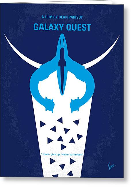 No551 My Galaxy Quest Minimal Movie Poster Greeting Card