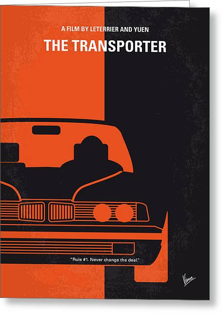 No552 My The Transporter Minimal Movie Poster Greeting Card by Chungkong Art
