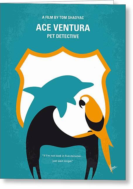 No558 My Ace Ventura Minimal Movie Poster Greeting Card