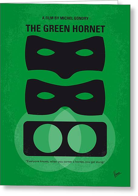 No561 My The Green Hornet Minimal Movie Poster Greeting Card by Chungkong Art