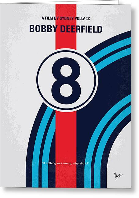 No565 My Bobby Deerfield Minimal Movie Poster Greeting Card