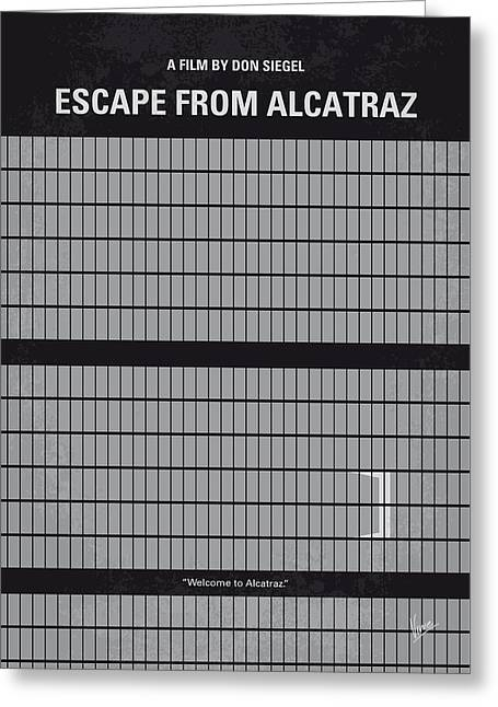 No566 My Escape From Alcatraz Minimal Movie Poster Greeting Card by Chungkong Art