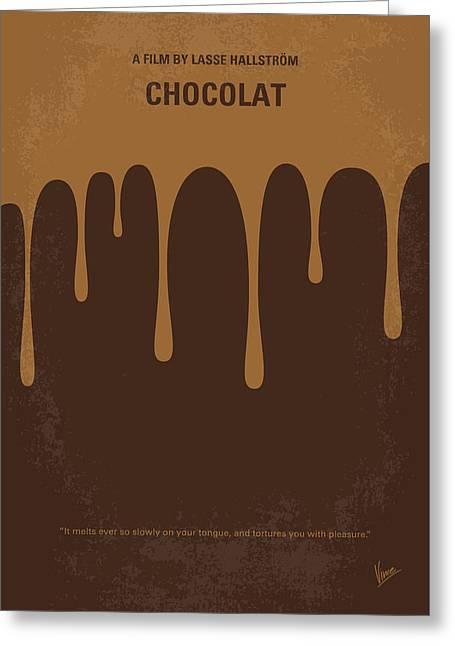 No567 My Chocolat Minimal Movie Poster Greeting Card