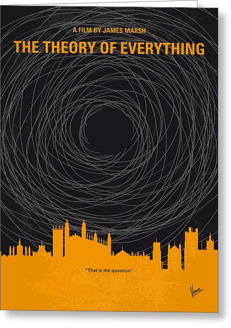No568 My The Theory Of Everything Minimal Movie Poster Greeting Card by Chungkong Art