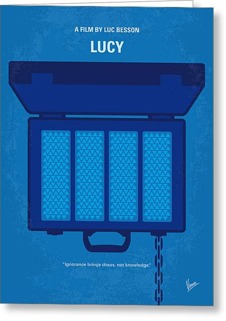 No574 My Lucy Minimal Movie Poster Greeting Card by Chungkong Art