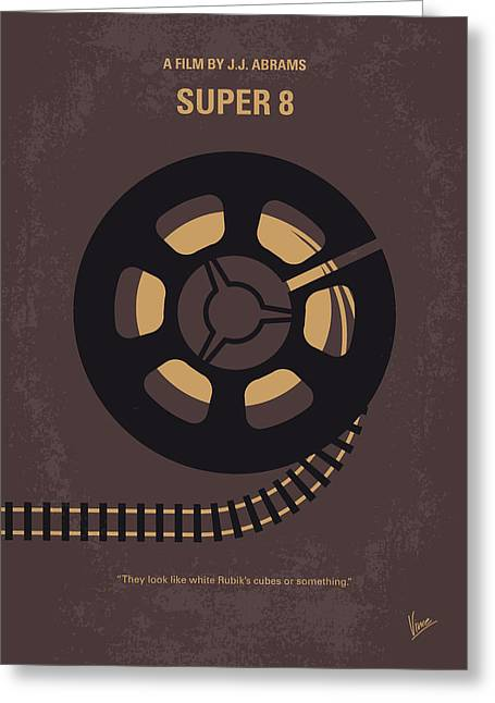 No578 My Super 8 Minimal Movie Poster Greeting Card