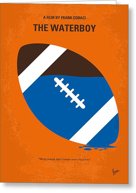 No580 My The Waterboy Minimal Movie Poster Greeting Card