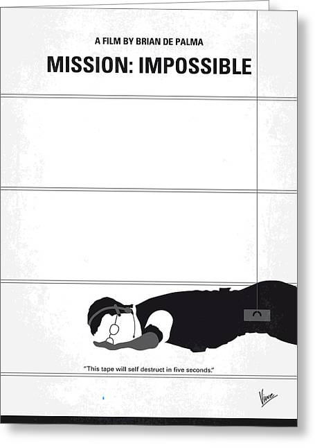 No583 My Mission Impossible Minimal Movie Poster Greeting Card