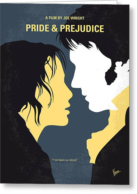 No584 My Pride And Prejudice Minimal Movie Poster Greeting Card by Chungkong Art