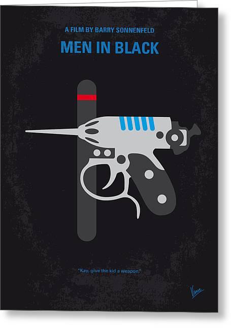 No586 My Men In Black Minimal Movie Poster Greeting Card