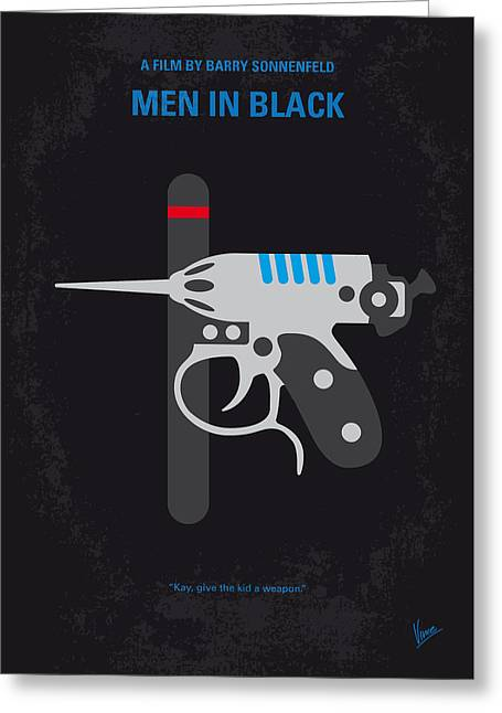 No586 My Men In Black Minimal Movie Poster Greeting Card by Chungkong Art