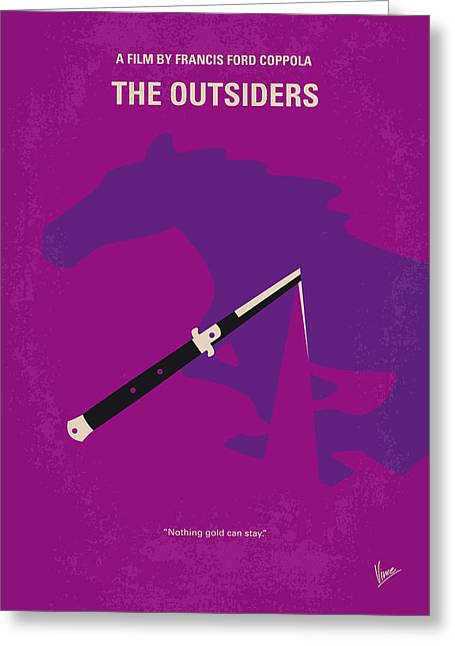 No590 My The Outsiders Minimal Movie Poster Greeting Card by Chungkong Art