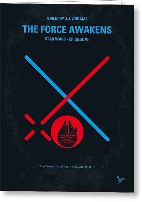 No591 My Star Wars Episode Vii The Force Awakens Minimal Movie Poster Greeting Card by Chungkong Art