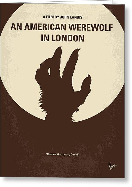 No593 My American Werewolf In London Minimal Movie Poster Greeting Card