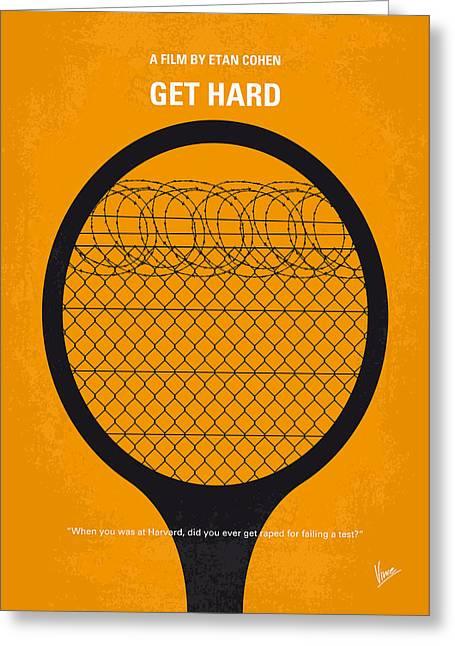 No594 My Get Hard Minimal Movie Poster Greeting Card by Chungkong Art