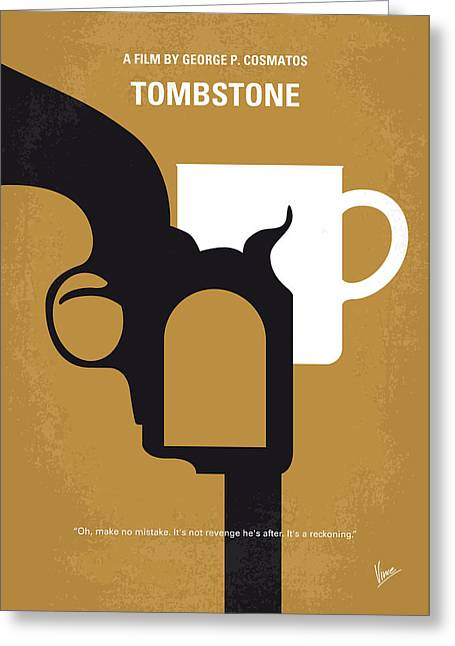 No596 My Tombstone Minimal Movie Poster Greeting Card