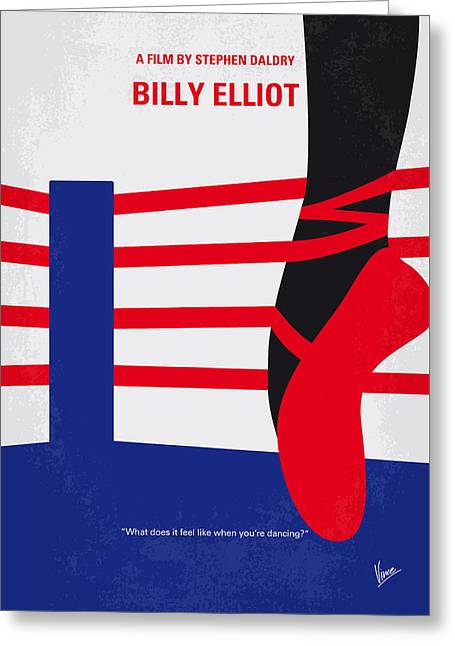 No597 My Billy Elliot Minimal Movie Poster Greeting Card by Chungkong Art