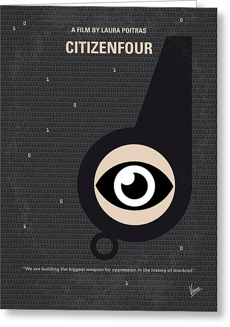 No598 My Citizenfour Minimal Movie Poster Greeting Card by Chungkong Art