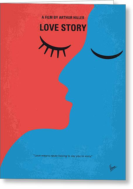 No600 My Love Story Minimal Movie Poster Greeting Card by Chungkong Art