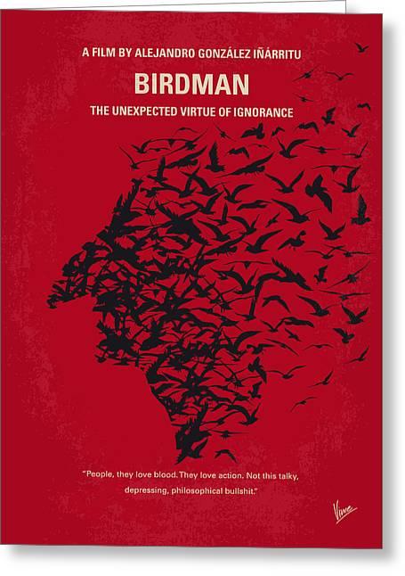 No604 My Birdman Minimal Movie Poster Greeting Card