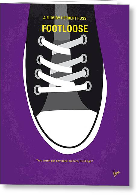 No610 My Footloose Minimal Movie Poster Greeting Card