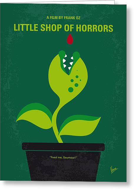 No611 My Little Shop Of Horrors Minimal Movie Poster Greeting Card by Chungkong Art
